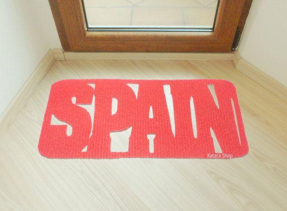 Floor mat SPAIN. Country door mat. Decor your entry. Customizable