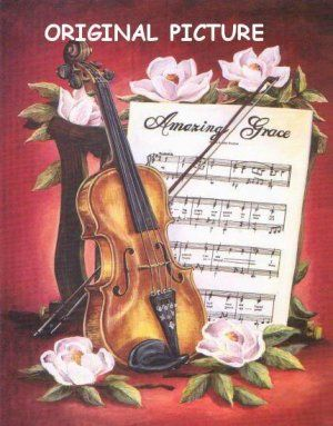 violin cross stitch pattern - Google Search