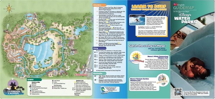 2013 Disney's Typhoon Lagoon map