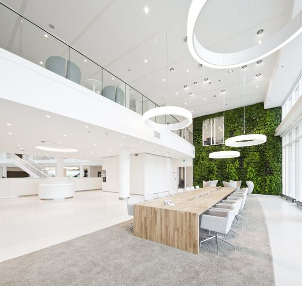 White, #interiors #office #design #interiordesign #funoffices #fun #openplanworkspace
