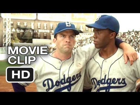 42 Movie CLIP - All Wear 42 (2013) <-- I also love the scene when Stanky confronts Chapman while he's chirping Robinson
