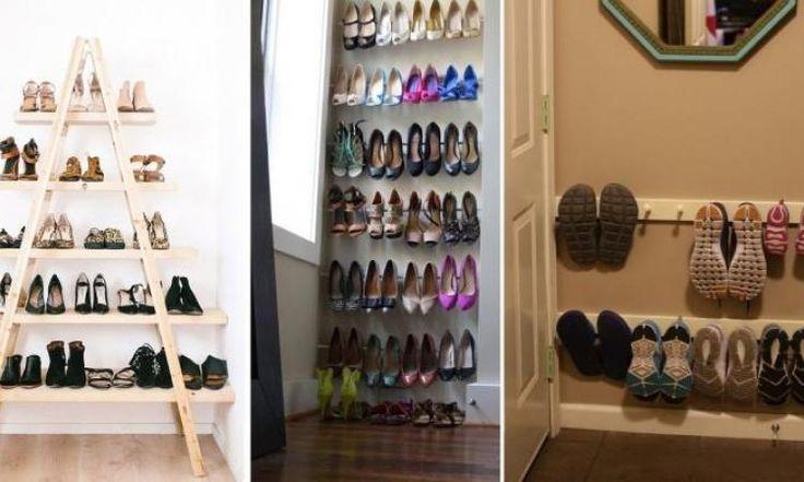 Voici 14 brillantes façons de ranger les chaussures, avec des matériaux particuliers!