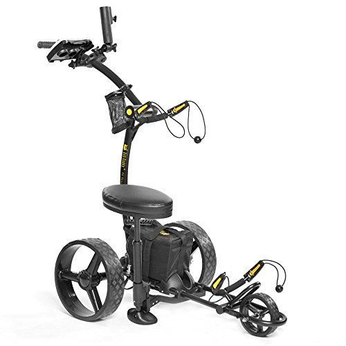Golf Carts Ideas | BatCaddy X4 Sport Electric Golf Push Cart 2017 12V 16Ah Lithium Battery Black -- Click image to review more details.(It is Amazon affiliate link) #food Get the very best in Golf Push Carts and More @ http://bestgolfpushcarts.net/product-category/golf-push-carts/caddy-tek/