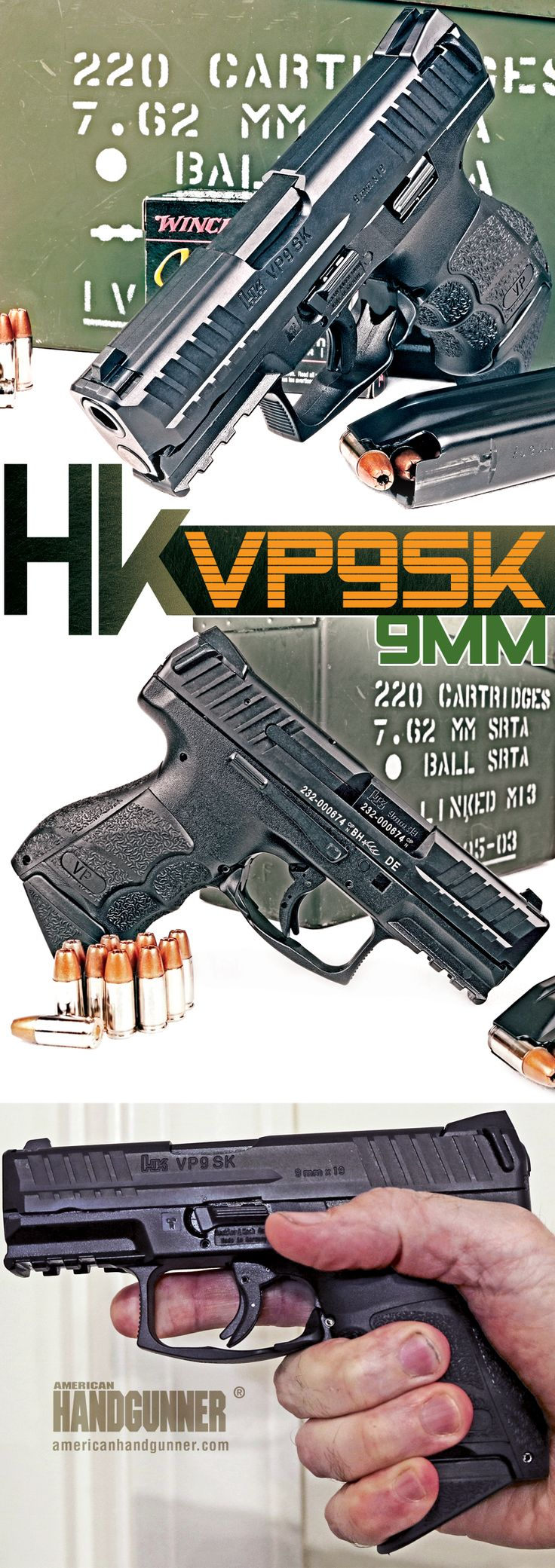 HK VP9SK 9mm   By Will Dabbs, MD   The Teutonic People's Pocket Pistol   The new HK VP9SK takes all that is righteous and wholesome about the superlative HK VP9 and shrinks it down into something more portable.   © American Handgunner 2018