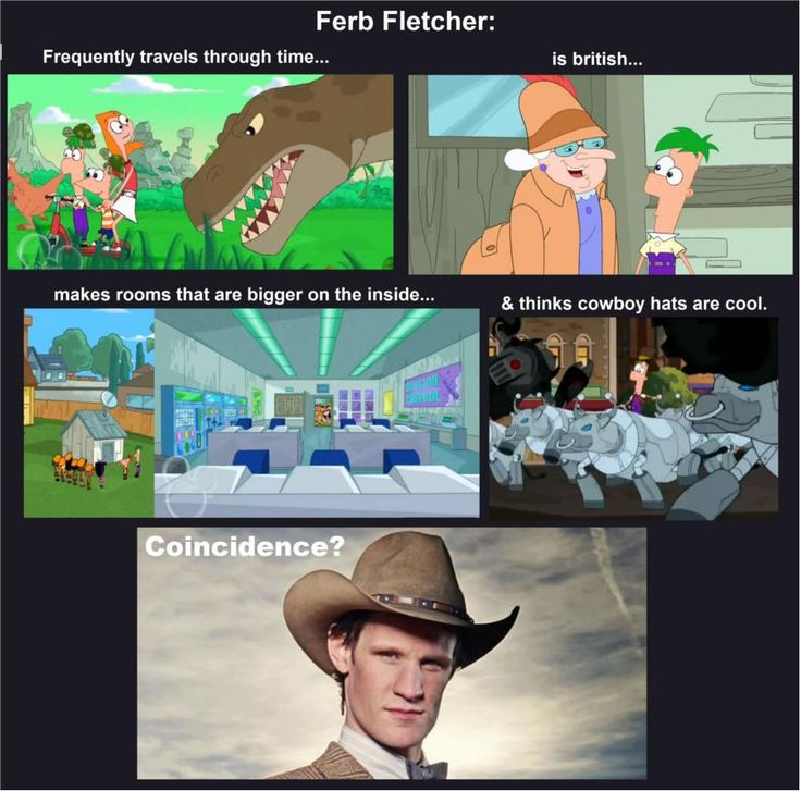 Ferb is The Doctor.. And The person who voices ferb played Latama, in doctor who, in the family of blood and human nature...... The one with the Fob Watch in David tenants time....... What if Ferb opened the fob watch....?