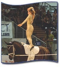 Mary McCormick at the 2008 World Equestrian Vaulting Championships