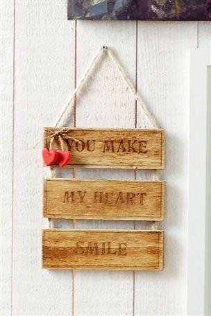 Smile Wooden Sign