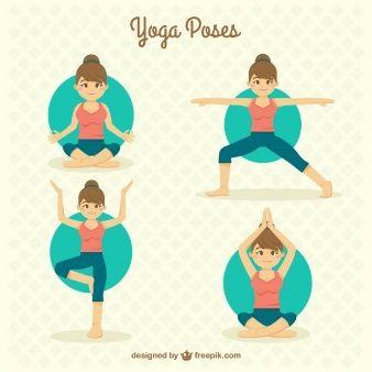 Han drawn nice girl doing yoga poses