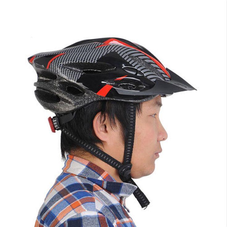 Bike Cycling Helmet Professional Bicycle Racing Safety Helmet Adult Mens Bike Helmet Carbon Fiber Red Blue With Visor Mountain