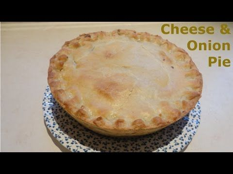 How to make a Cheese & Onion Pie  British Recipe - YouTube