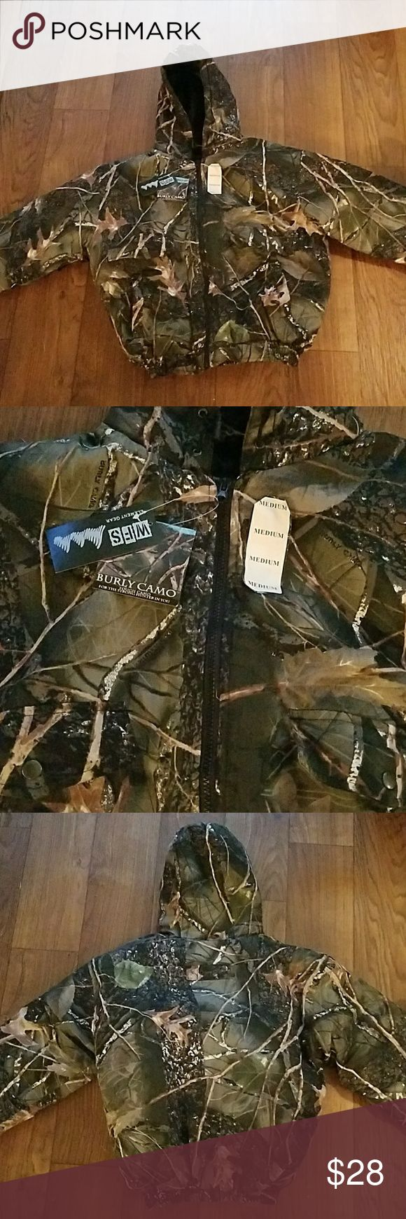 ☆NEW☆ WFS Hunting coat. Burly camo. New with tags WFS hunting coat. Burly camo. Size medium. Jackets & Coats