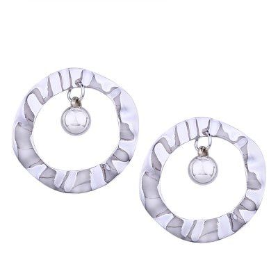 Simple Round Gold Metal Creatitive Design Earrings $4.51