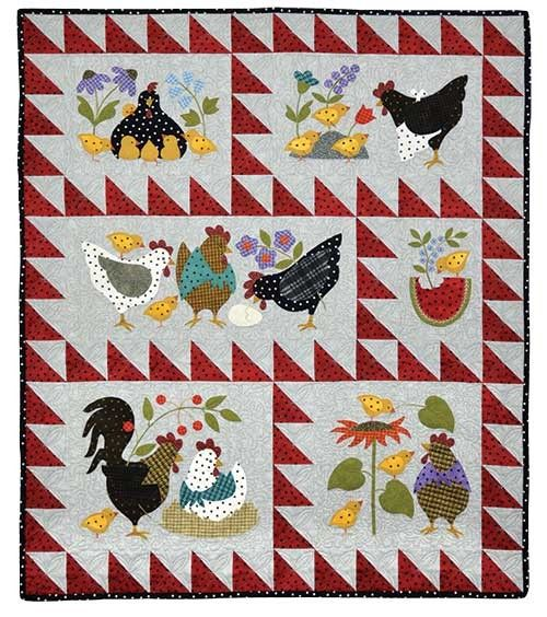 Here A Chick, There A Chick quilt by Bonnie Sullivan