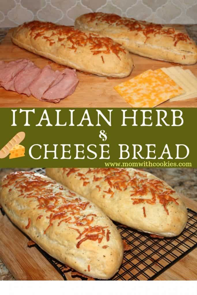 Italian Herbs And Cheese Bread Recipe Italian Herb Cheese