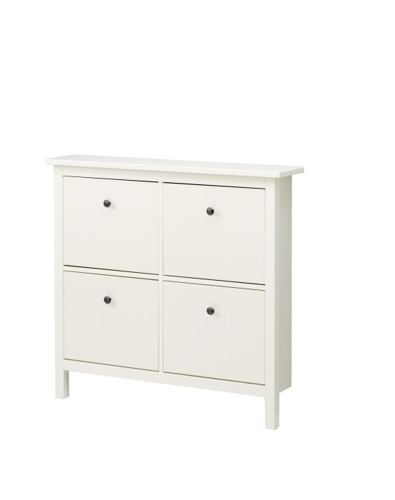 HEMNES Shoe cabinet with 4 compartments, white Front hallway, The area and Girls shoes