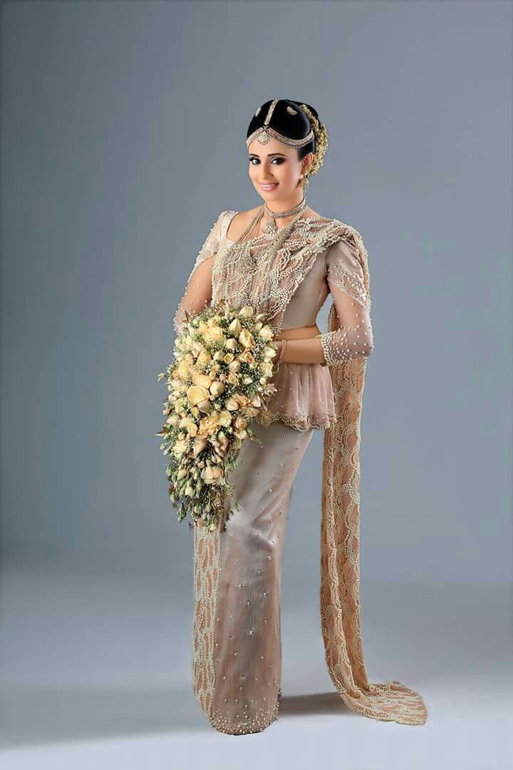 186 best Sri Lankan Bridal Wear & Jewellery images on Pinterest | Wedding sarees, Indian bridal ...