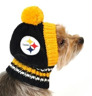 Pittsburgh STEELERS NFL Official Licensed Ski Hat for Dogs in color Black/Yellow - Daisey's Doggie Chic