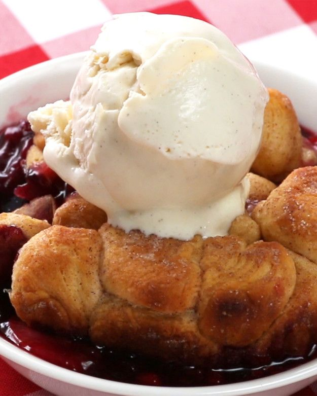 Grilled Mixed Berry Cobbler
