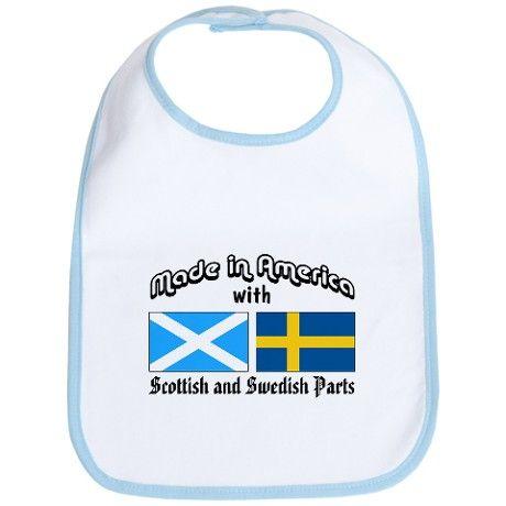 Scottish-Swedish Bib