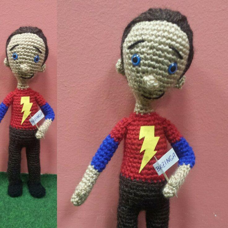 Crochet amigurumi Sheldom Cooper, The Big Bang Theory
