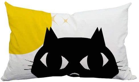 Holiday Treasures Shy Cat Innen- / Außenkissen für die Lendenwirbelsäule
