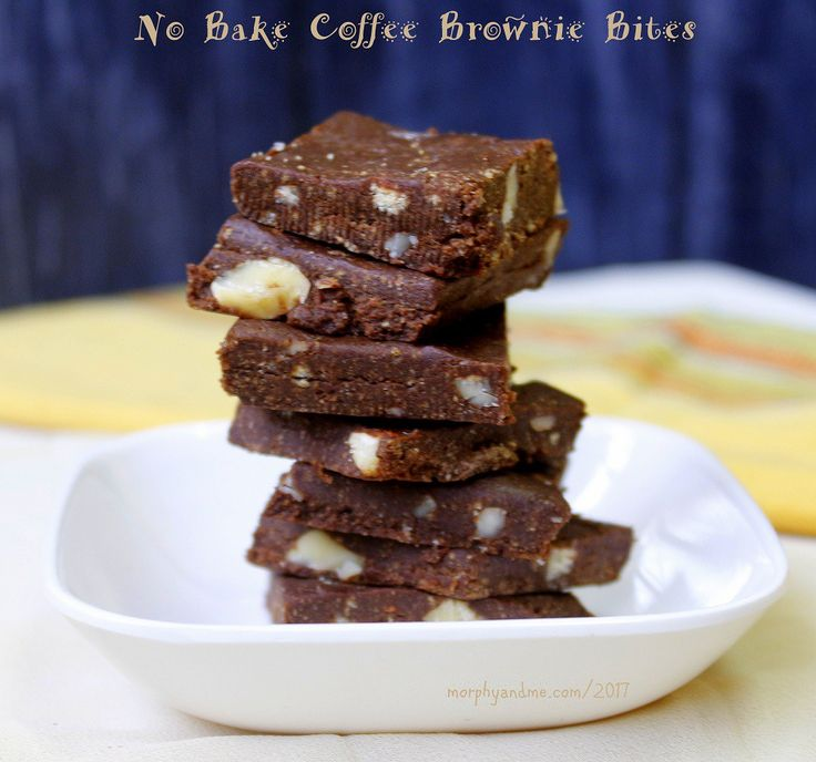 These fudgy No Bake Coffee Brownie Bites are the perfect treat for a coffee-chocolate lover. A 10-minute no fuss dessert ready in a jiffy.