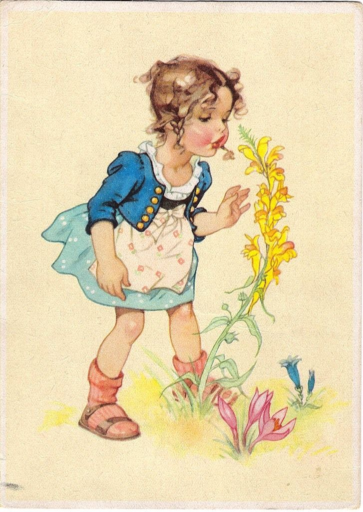 Надпись, немецкие старые открытки с детьми