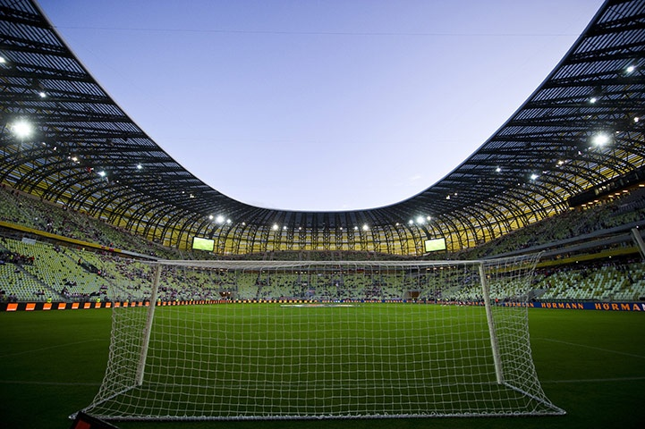 The new Gdansk soccer stadium built in preparation for the Euro Cup 2012 this summer!