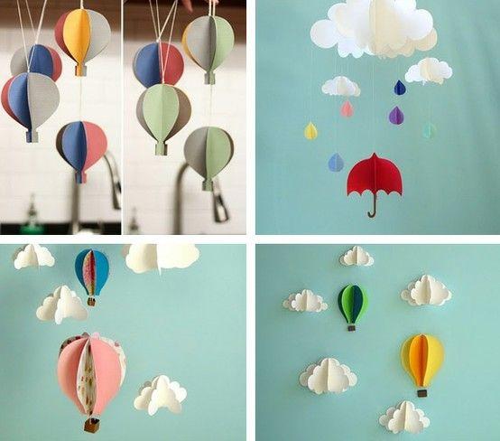 Love Décor: DIY  Móbile de Balões 3D http://lovedeccor.blogspot.com.br/2012/05/diy-mobile-de-baloes-3d.html