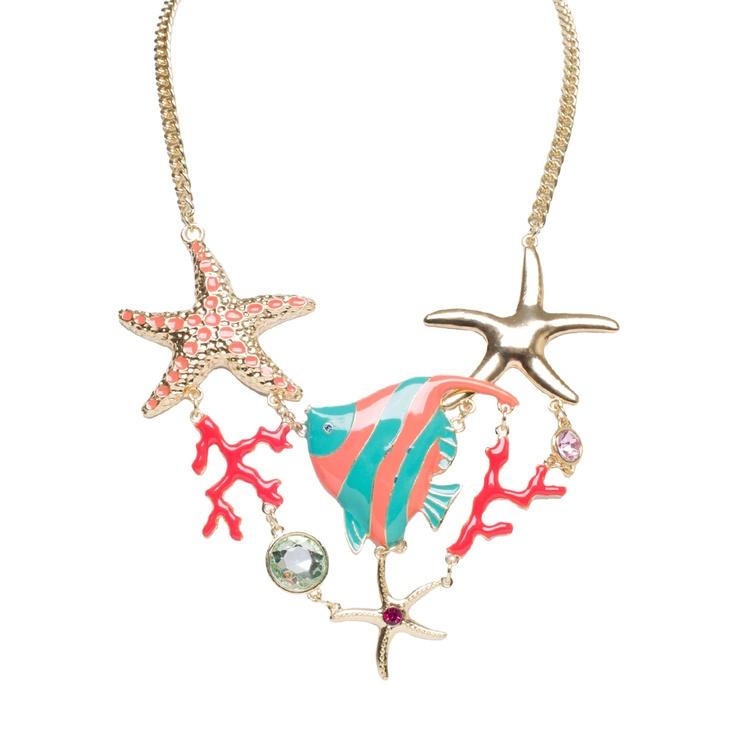 I love the Carol Dauplaise Sealife Statement Necklace from LittleBlackBag