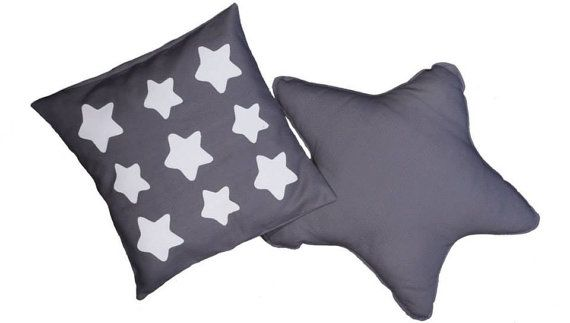 Cotton Star shaped cushion and Star pillowcase handmade in Italy by EffeCremona / Cuscino a stella e federa per cuscino in cotone - fatto a mano in Italia