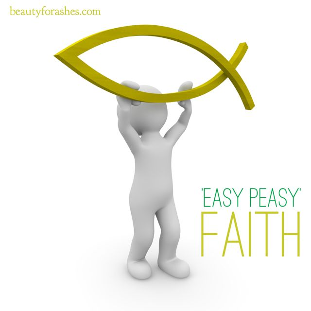 """'Easy peasy' faith by Michelle du Toit. It is possible for us to limit God's ability to what we term as 'easy' things As I journey on in my """"lessons on faith"""" God continues to show me aspects of having faith that I have"""