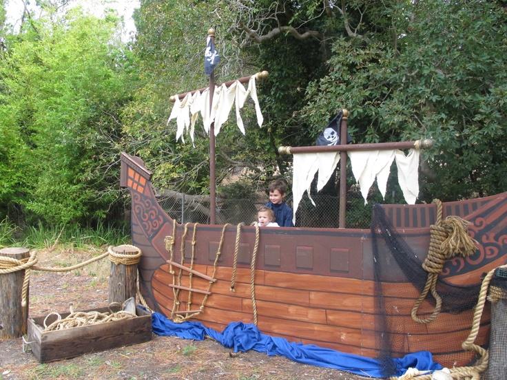 Pirate ship for pirate picnic.