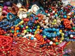 beads! Quito market, ecuador!  now we're talking.