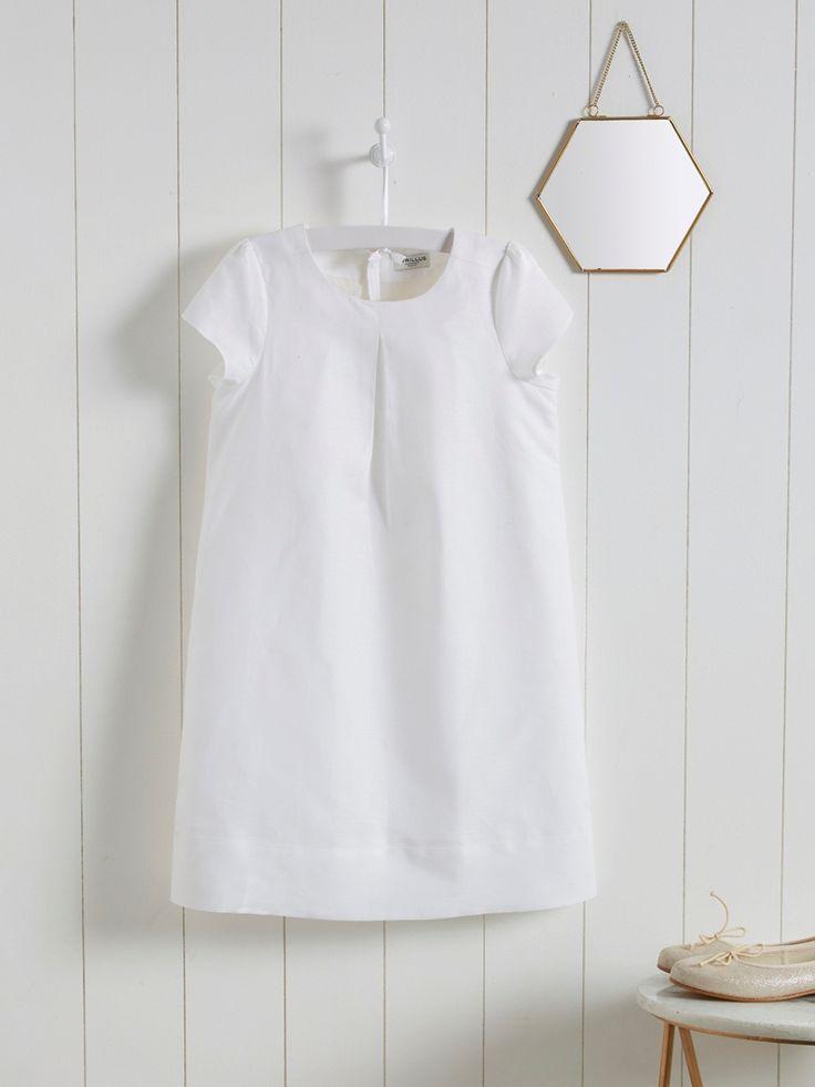 Deze chique, uitgepuurde jurk in katoen en linnen is verkrijgbaar in een mooi kleurengamma dat past bij elke gelegenheid, feest of huwelijk. Eindeloos