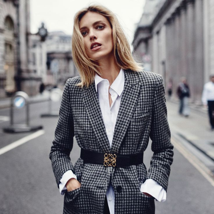 Top model Anja Rubik is styled by Aurelia Donaldson in 'Trail Blazer', menswear looks lensed by Boo George for The Edit August 2017./ Hair by Alain Pichon; makeup by Lotten Holmqvist