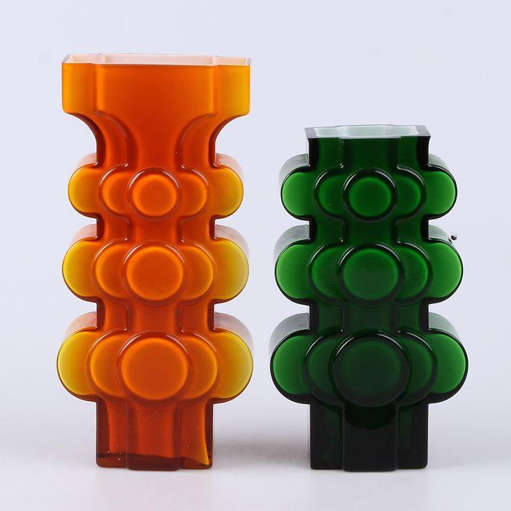 VASER, 2 st. Glas, möjligen P-O Ström för Alsterfors