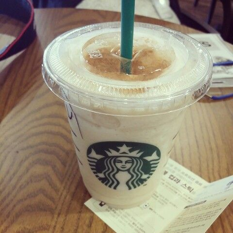 Starbucks. My favorite =) chai tea cream frappuccino ♡