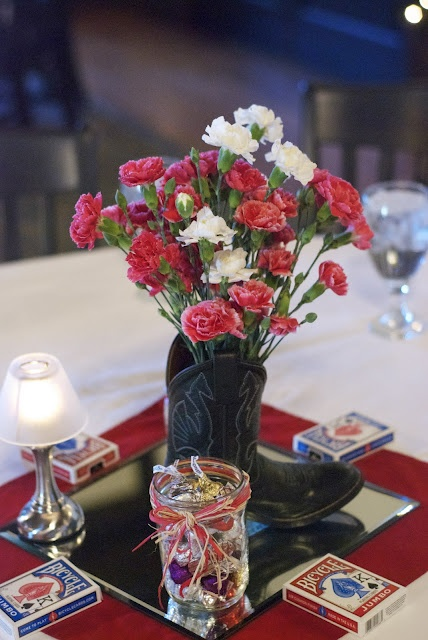 deck of card party centerpiece