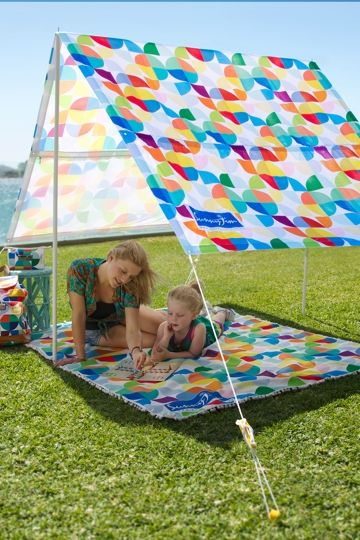liked this portable quick and easy sun shade  option for at the beach or park in summer
