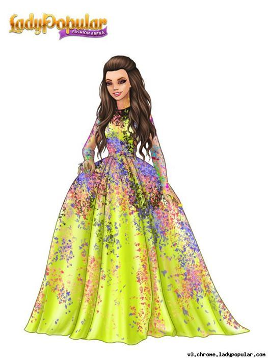 Special FB prize for a unique outfit  International version lady Fierre Elle