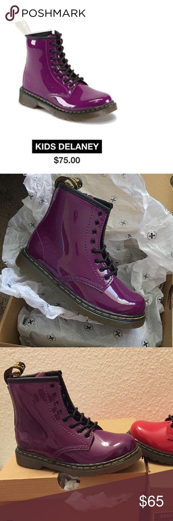 Doc marten new in box Purple doc marten shoes new in box. Size 10c kids doc martens Shoes Boots