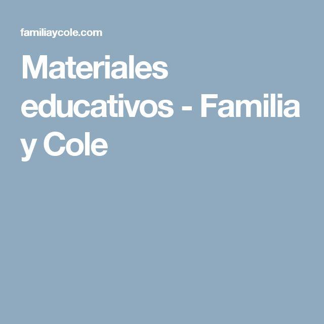 Materiales educativos - Familia y Cole
