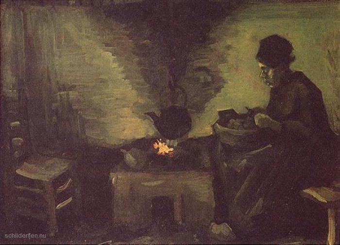 Afbeeldingsresultaat voor schilderij met haard
