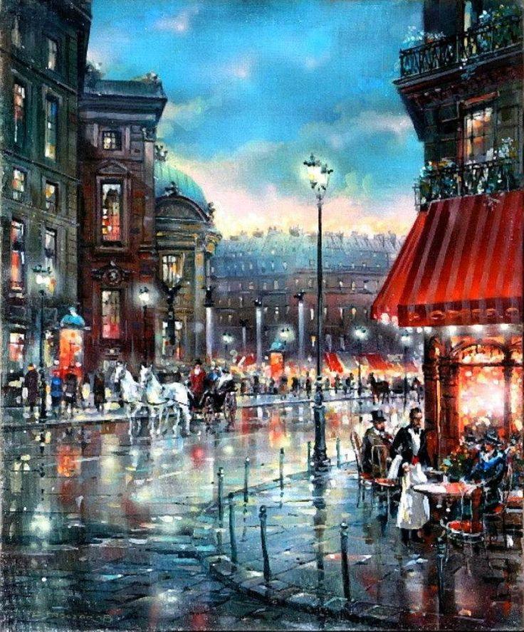 Vladimir Stroozer ~ via Galia Cherkezova ..- Cafe – a mirror of the soul of Paris