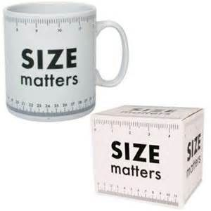 I think that size really does matter.