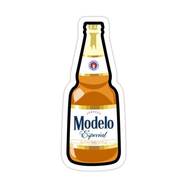 Modelo Especial Sticker By Trillgil In 2021 Beer Bottle Sticker Beer Drawing Beer Stickers