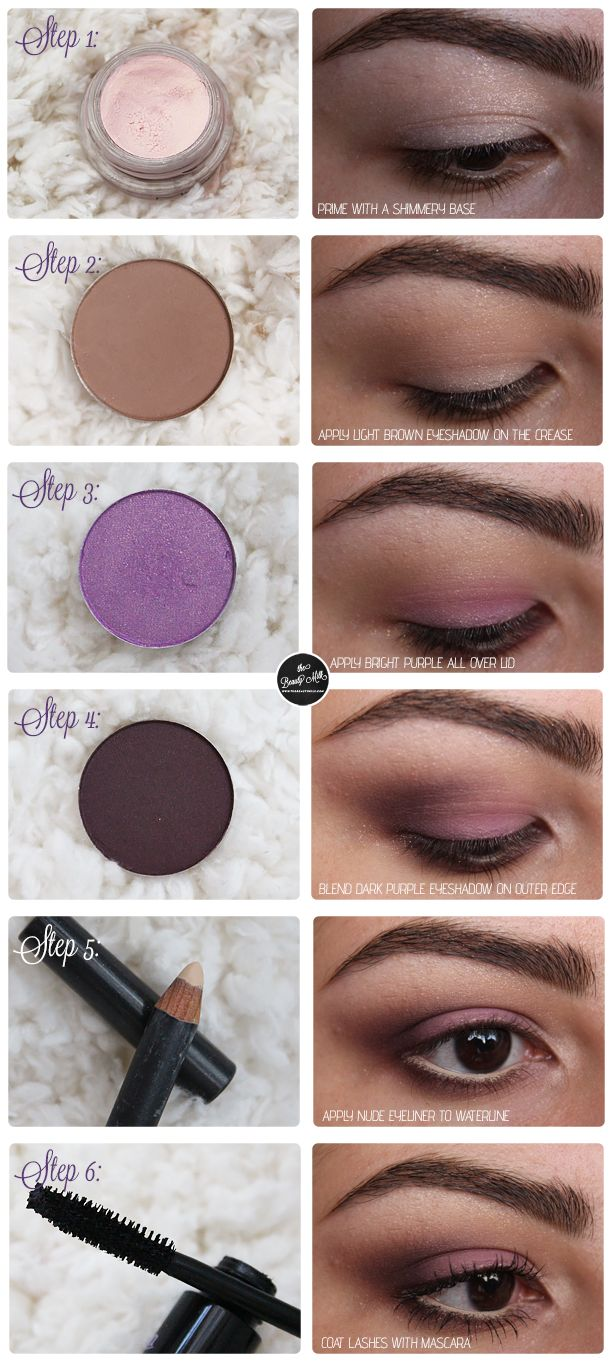 Romantic and Soft Purple Smokey Eyes