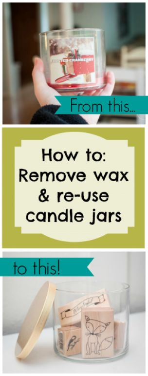 Dwell Beautiful shows you how to reuse candle jars and wax to get the most bang for you buck from store bought candles. How to get old wax out of jars