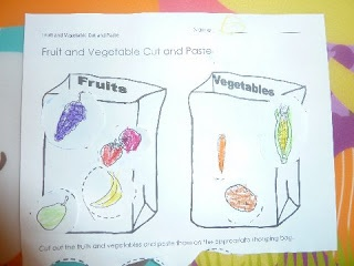 Fruit or Vegetable cut and paste sheet | Gardening ...